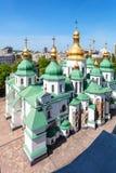 Над взглядом собора Sophia Святого в Киеве Стоковые Изображения RF