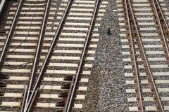 над взглядом railway предпосылки Стоковое фото RF