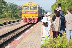 На вокзале в Таиланде Стоковое Изображение