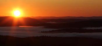 над восходом солнца облаков Стоковые Изображения