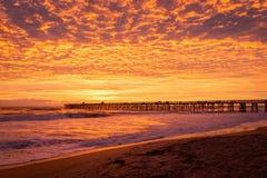 над восходом солнца пристани Стоковое фото RF
