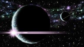 над восходом солнца планеты Стоковая Фотография