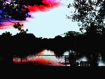 над водой восхода солнца Стоковое фото RF