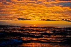 над водой восхода солнца Стоковая Фотография
