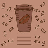На вынос кофе на темной предпосылке Стоковое Фото