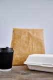 На вынос пищевой контейнер Стоковое фото RF