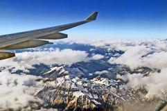 Над горами Стоковое Изображение