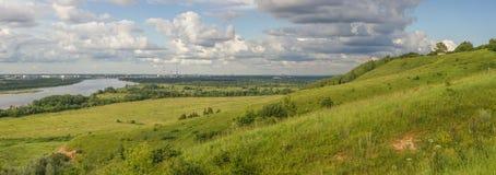 На горизонте город Дзержинска Стоковое фото RF