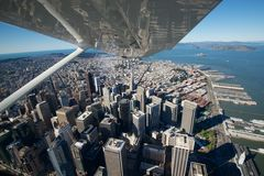 Над городом Сан-Франциско Стоковые Изображения