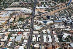 Над городским Scottsdale, Аризона Стоковые Фото