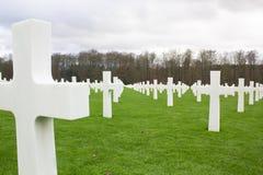 Надгробная плита в кладбище военного мемориала Стоковое фото RF