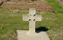 надгробная плита кельтского креста Стоковое Изображение