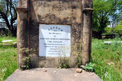 Надгробная плита на великобританском месте жительства стоковые фото