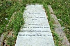 Надгробная плита на великобританском месте жительства стоковые фотографии rf