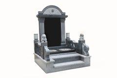 Надгробная плита с белой предпосылкой стоковое изображение rf