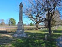 Надгробный камень поля боя Confederate Стоковые Изображения RF