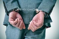 Надеванный наручники человек Стоковое Изображение RF