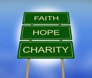 Надежда веры и дорожный знак призрения Стоковое Изображение