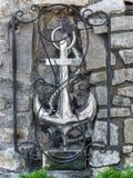 Надежда символа анкера, украшение морской флоры и фауны Стоковое фото RF