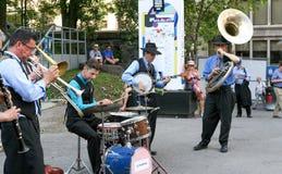 " на джазовом фестивале Монреаля, 2017 Dixieband†""Le Стоковое Фото"