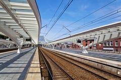 На железнодорожном вокзале в Liege Стоковые Изображения RF