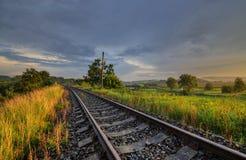 На железных дорогах Стоковые Изображения