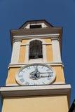 12 15 на желтом гипсолите Clocktower Стоковое Изображение RF