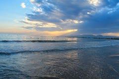 над заходом солнца Испании Стоковые Фото