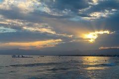 над заходом солнца Испании Стоковое фото RF