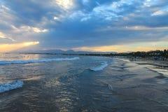 над заходом солнца Испании Стоковые Фотографии RF