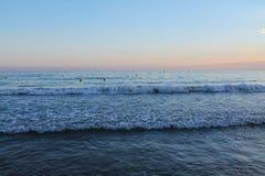 над заходом солнца Испании Стоковое Фото