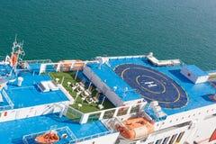 Надземный взгляд вертодрома корабля, Барселоны Стоковое Изображение RF