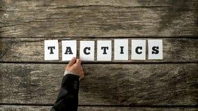 Надземный взгляд стратегического делового партнера собирая слово Стоковая Фотография RF