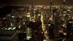 Надземный взгляд Чикаго сток-видео