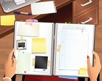 Надземный взгляд Scrapbook Стоковое Фото