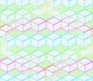 На зеленой предпосылке покрашенных квадратов Стоковое Изображение RF