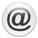 На или электронной почты кнопка Стоковые Фотографии RF