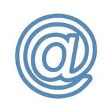 На линии значке знака Стоковое Изображение RF