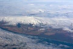 над Исландией Стоковое фото RF