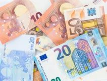 Наличные деньги валюты счетов евро денег Стоковое Изображение