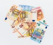 Наличные деньги валюты счетов евро денег Стоковое Фото