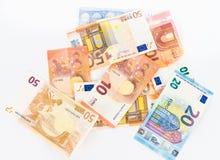 Наличные деньги валюты счетов евро денег Стоковое Изображение RF
