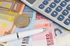 Наличные деньги евро Стоковое Изображение RF