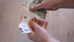 Наличные деньги денег - дело сток-видео