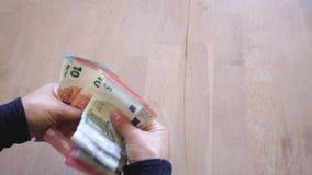 Наличные деньги денег - дело видеоматериал