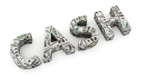 Наличные деньги доллара Стоковые Изображения