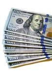 100 наличных денег денег долларовых банкнот Стоковые Изображения