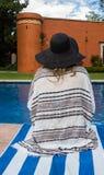 На каникулах бассейном стоковое фото