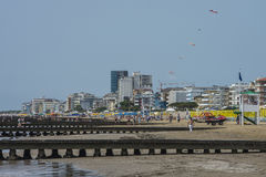 На каникулах в Lido di Jesolo (на пляже) Стоковое Изображение RF