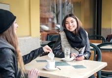 На кафе Стоковая Фотография